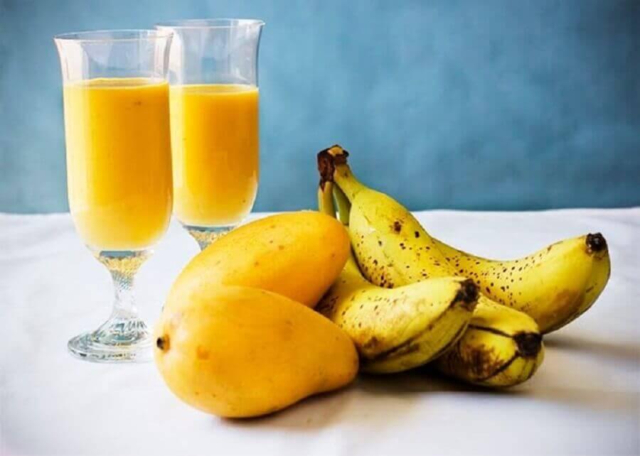 Frullato al mango e banana