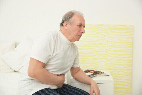 Uomo con sintomi dell'intossicazione da vitamina D
