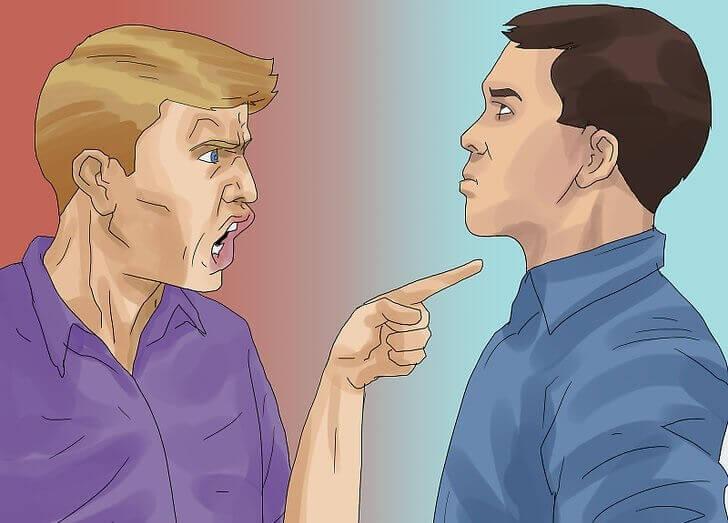Uomini che discutono: come rispondere alle critiche in modo assertivo?