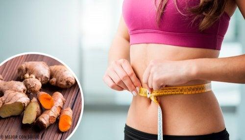 Curcuma e zenzero per accelerare il metabolismo