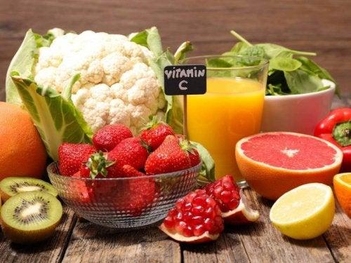 Frutta e verdura che contengono vitamina C