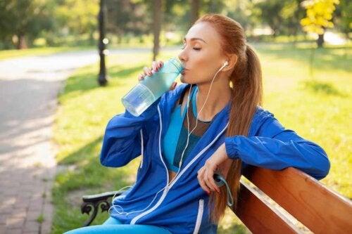 Accumulo di liquidi e esercizio fisico
