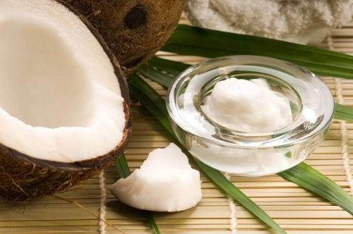 Bicarbonato e olio di cocco