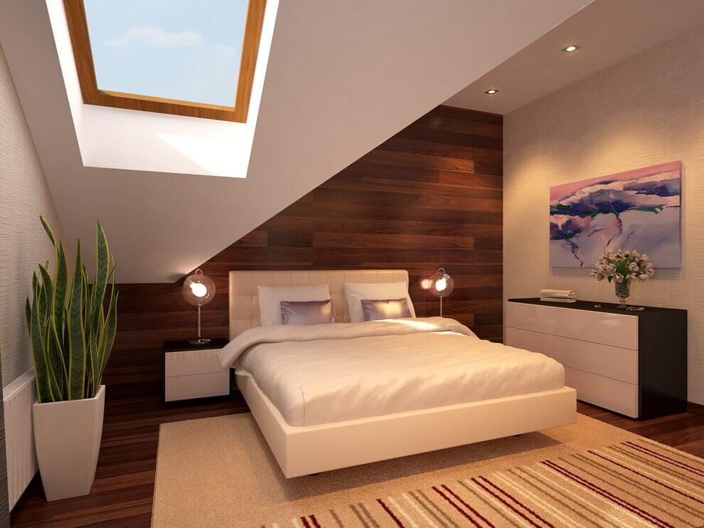 Camera da letto con pianta