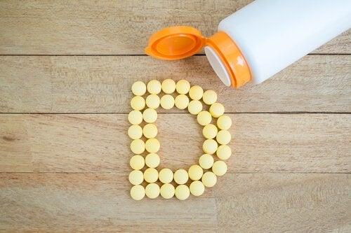 Vitamine D su tavolo