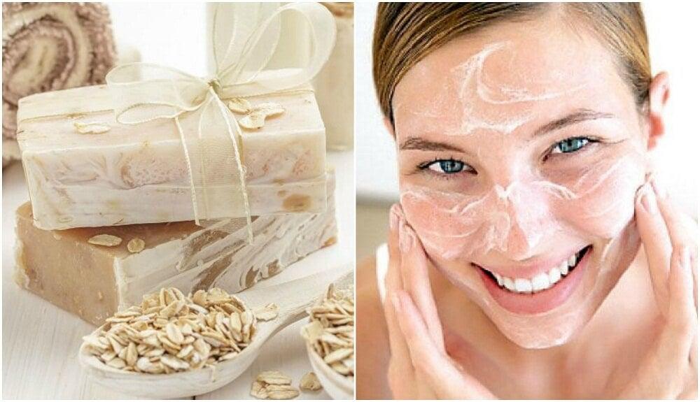 Sapone di avena e miele per idratare la pelle