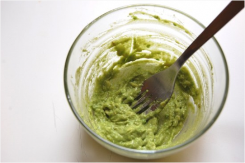 Maschera all'avocado