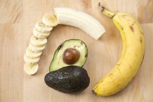 Banana e avocado