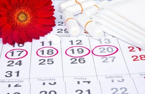 Calendario ciclo mestruale irregolare