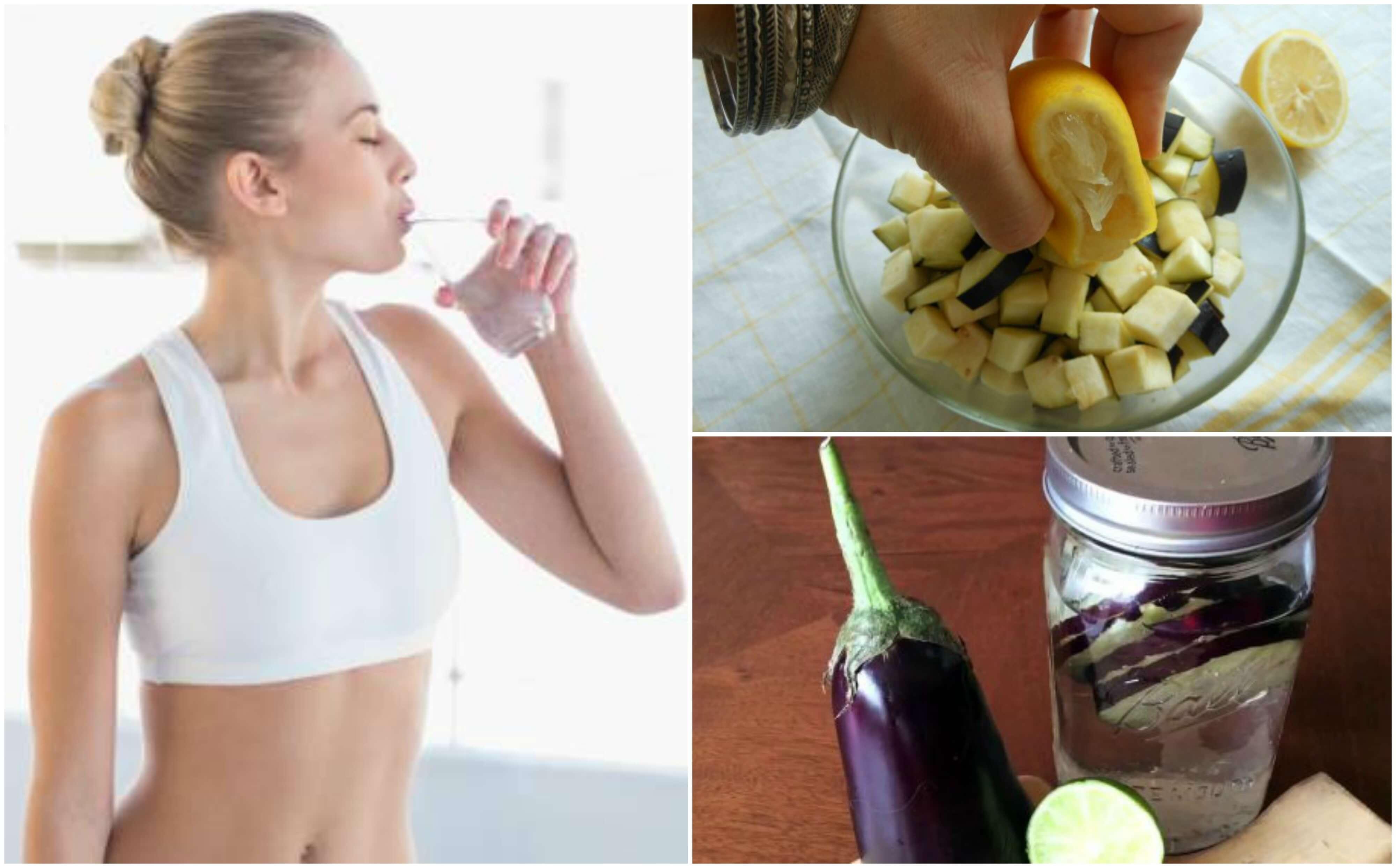 Acqua di melanzana e limone per perdere peso