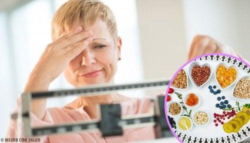 dieta per perdere peso durante la menopausa