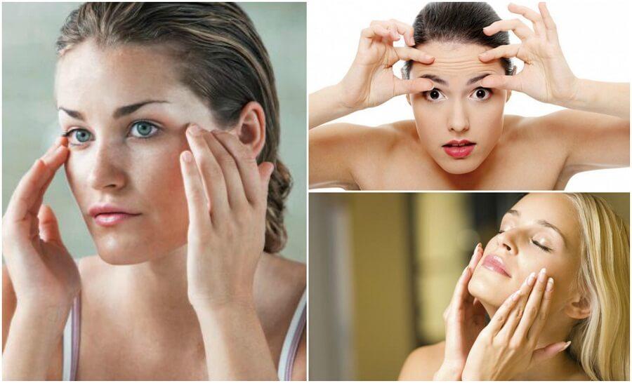 Evitare la flaccidità del viso con 6 esercizi