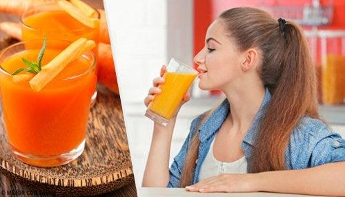 Frullato alla carota per depurare l'organismo