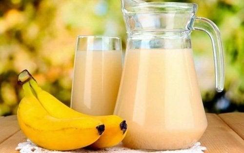 Frullato di banana e patata