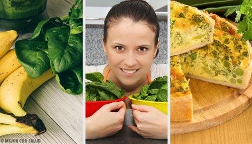 Gli spinaci in 5 ricette diverse