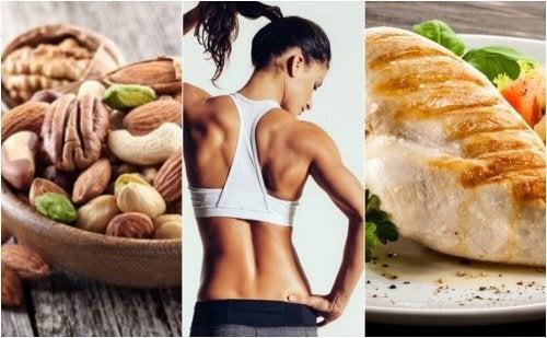 alimentazione per rassodare i muscoli
