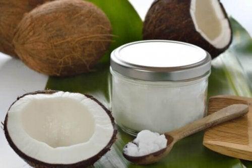 unguento con olio di cocco