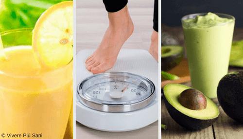perdere peso bevande