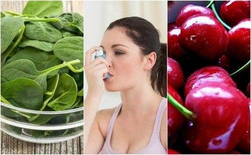 Combattere l'asma con 7 alimenti molto sani