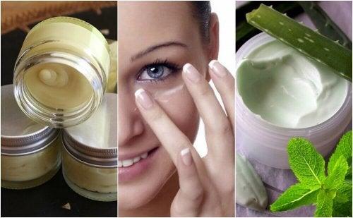 5 creme naturali per il contorno occhi