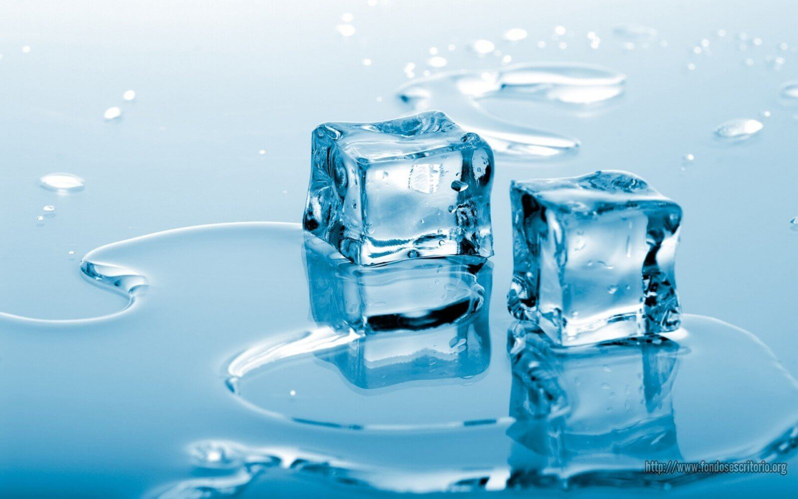 Cubetti di ghiaccio che si sciolgono