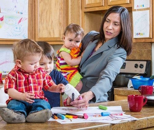 Una mamma impegnata