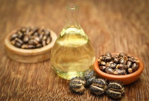Olio di ricino e chicci di caffè