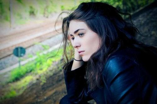 Una ragazza depressa