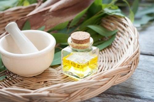 Sali di epsom e olio di eucalipto