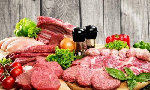 Vari tipi di carne