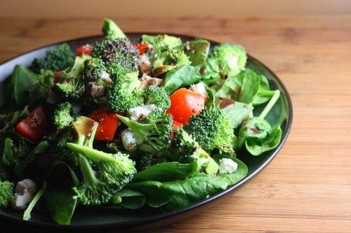 Verdure con proteine