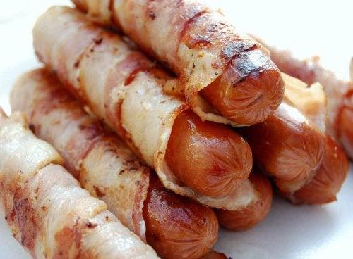 wurstel e pancetta