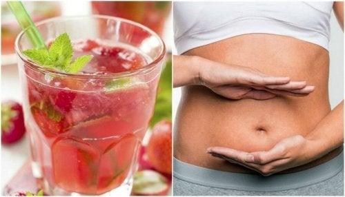 Acqua di fragole e limone per disintossicare l'organismo