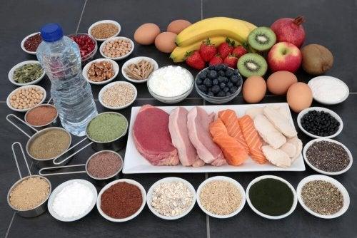 Alimenti vari ricchi di creatina