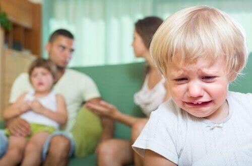 Litigare in presenza del bambino: conseguenze