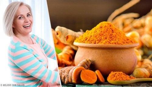 Benefici della curcuma: menopausa e postmenopausa
