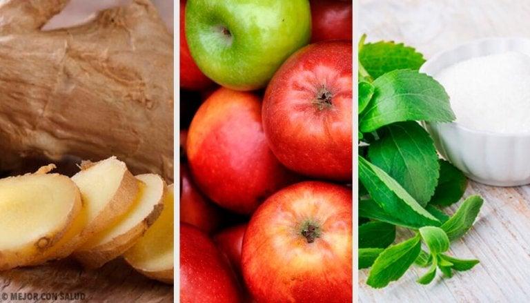 Bevanda contro gli eccessi: zenzero, stevia e mela