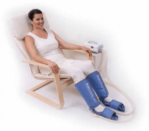 Compressione pneumatica per il disturbo delle gambe senza riposo