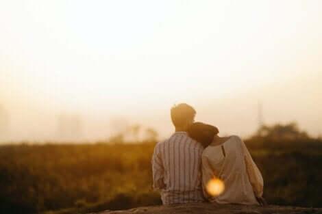 Anima gemella: coppia al tramonto.