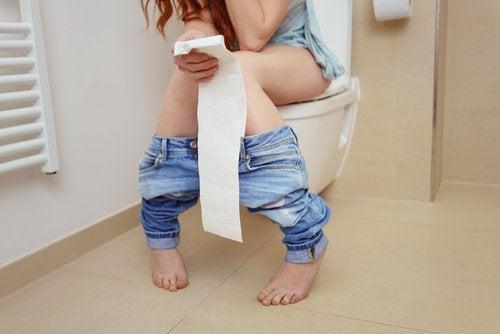 Donna con gastroenterite