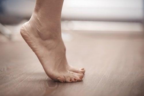 Esercizi sulle punte dei piedi