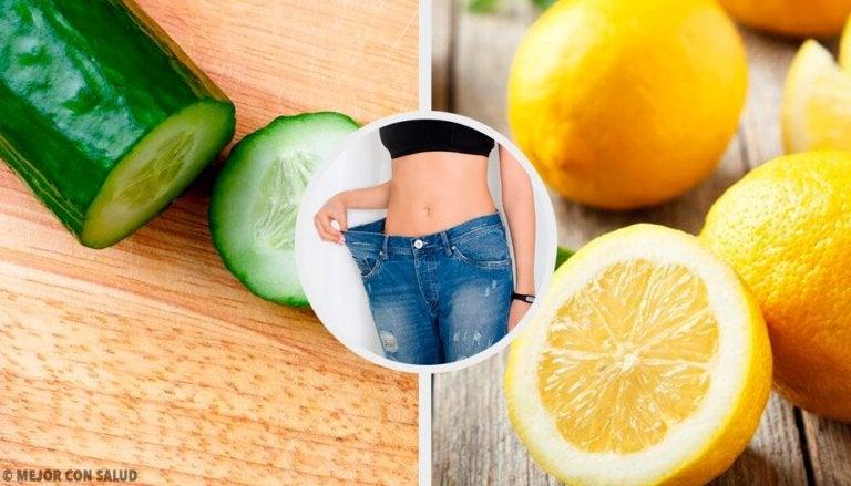 Frullato dimagrante a base di cetriolo, limone e menta
