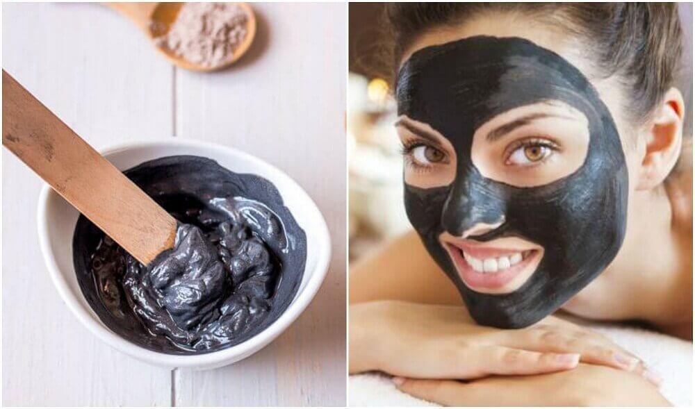 Maschera nera per eliminare punti neri e impurità