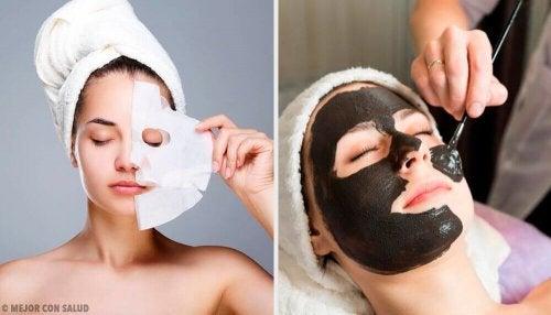 Rivitalizzare la pelle del viso con 6 maschere peel-off