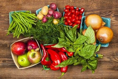 Verdure di vario tipo per persone nervose