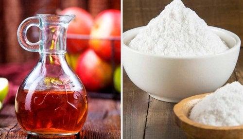 Bicarbonato e aceto di mele