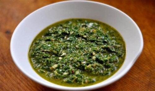 ciotolina con salsa chimichurri