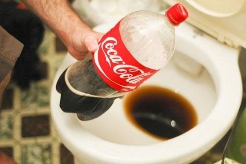 Coca cola nel wc per pulire