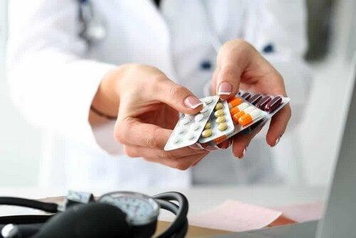 Farmaci in compresse per la terapia.