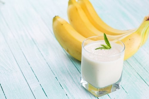 Frullato di avena e banana
